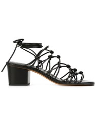 Chloe Knotted Strappy Sandals Black