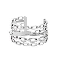 Michael Kors Pave Silver Tone Chain Link Cuff
