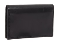Bosca Old Leather Collection Gusseted Card Case Black Leather Wallet