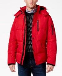 Nautica Men's Hooded Parka Red