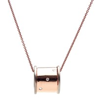Msj By Mira S Designs Rose Gold Diamond Studded Musical Box Cylindrical Pendant