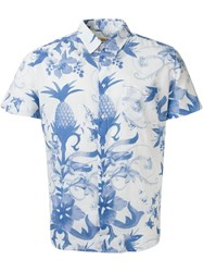 Osklen Pineapple And Floral Print Shirt Blue