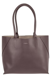 Lodis Blair Collection Cynthia Leather Tote Grey Lava Taupe