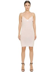 Gentryportofino Cashmere Gauze Dress With Lace Trim