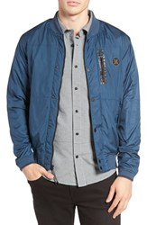 Hurley Men's All City Stealth Bomber Jacket Squadron Blue