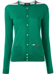 Dsquared2 Round Neck Cardigan Green