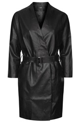Oversized Pu Coat By Goldie Black
