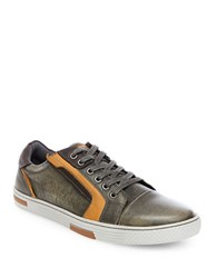 Steve Madden Adison Leather Fashion Sneakers Grey