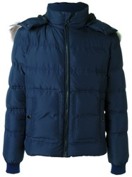 Versace Collection Padded Jacket Blue