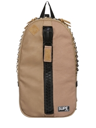 Supe Design Studded Faux Leather Backpack Taupe