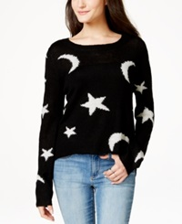 Material Girl Juniors' Graphic Sweater Only At Macy's Caviar Black