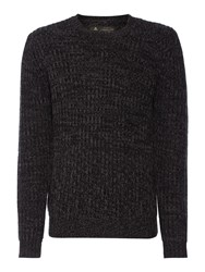 Label Lab Dean Multicoloured Crew Neck Jumper Dark Grey