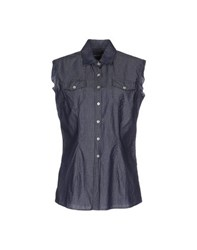 Original Vintage Style Denim Denim Shirts Women