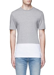 Topman Hem Panel T Shirt Grey