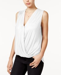 Guess Sleeveless Surplice Top True White