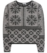 Chloe Wool And Cashmere Knitted Sweater Grey