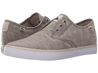 Quiksilver Shorebreak Deluxe Grey White Grey Men's Lace Up Casual Shoes Gray