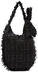 Simone Rocha Black Tweed Tote