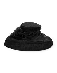 Forever Hats Lace And Chiffon Hat Black