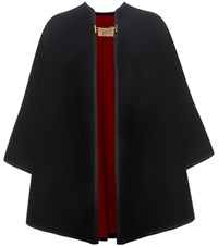 Burberry Wool And Cashmere Cape Black