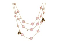 Betsey Johnson Tzarina Beads Flower Necklace Pink Necklace