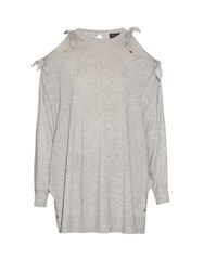 Undercover Knot Detail Silk Blend Sweater Grey