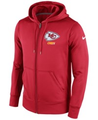 Nike Men's Kansas City Chiefs Sideline Ko Fleece Full Zip Hoodie Red White