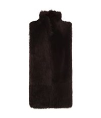 Whistles Reversible Sheepskin Gilet Burgundy
