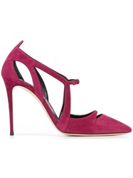 Casadei Pointed Toe Pumps Pink And Purple