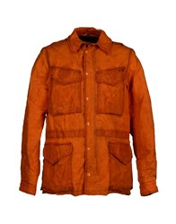 Roy Rogers Roy Roger's Coats And Jackets Down Jackets Men Orange