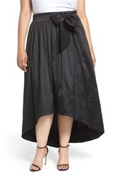 Eliza J Plus Size Women's High Low Taffeta Ball Skirt