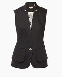 Ted Baker Cayciw Peplum Layered Suit Waistcoat Black