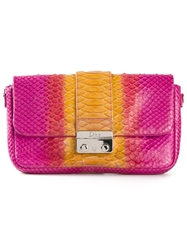 Christian Dior Vintage 'Promenade' Clutch Pink And Purple