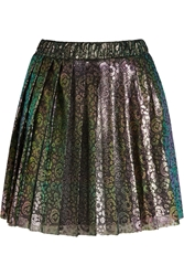 House Of Holland Lacke Metallic Leopard Print Tulle Mini Skirt