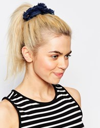 Monki Denim Scrunchie Blue