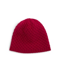 Lord And Taylor Cashmere Knit Beanie Ruby Red