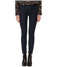 Marc By Marc Jacobs Uptown Stretch Skinnies With Zipper Blue Stone