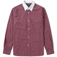 Cdg Homme Comme Des Garcons Twill Tartan Shirt Red