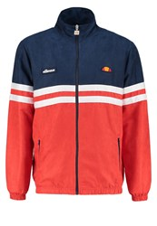 Ellesse Rimini V Tracksuit Top Dress Blue Flame Scarlet Red