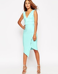 Asos Bandage Asymmetric Bodycon Dress Mint
