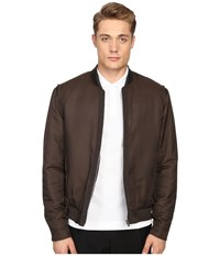 The Kooples Grosgrain Placket Bomber Jacket Khaki Men's Coat