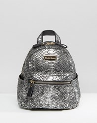 Claudia Canova Mini Backpack Silver Snake