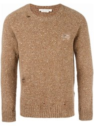 Marc Jacobs Distressed Knit Jumper Nude Neutrals