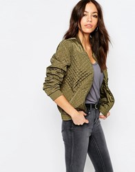 Jdy J.D.Y Quilted Bomber Jacket Ivy Green