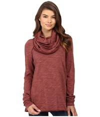 Free People Cocoon Cowl Pullover Terracotta Women's Long Sleeve Pullover Orange