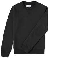 Maison Martin Margiela Maison Margiela 14 Elbow Patch Crew Sweat Black