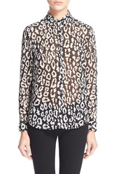 Women's The Kooples Leopard Print Chiffon Shirt