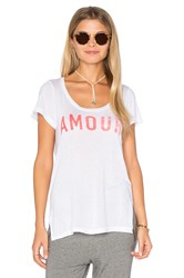 Sundry Light Jersey Amour Crew Neck Tee White