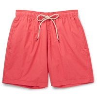 Faherty Beacon Mid Length Swim Shorts Red