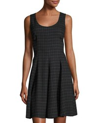 Nanette Nanette Lepore Sleeveless Plaid Fit And Flare Dress Very Black